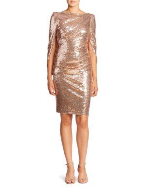 Sequin Cape Dress
