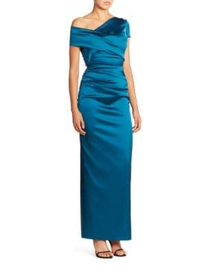 Asymmetric Satin Gown