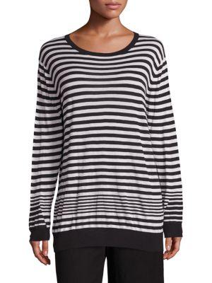Striped Cashmere Blend Pullover