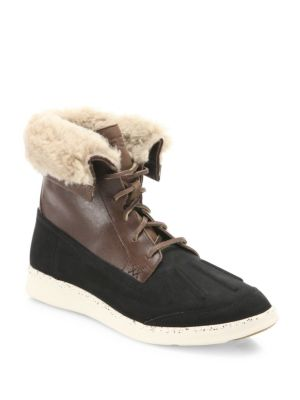 Fillmore Roskoe Leather & Suede Wool Lined Boots