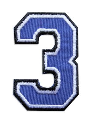 Embroidered Number Patch