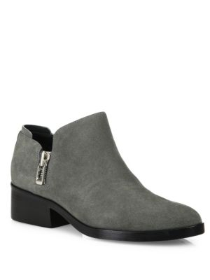Alexa Suede Zip Booties