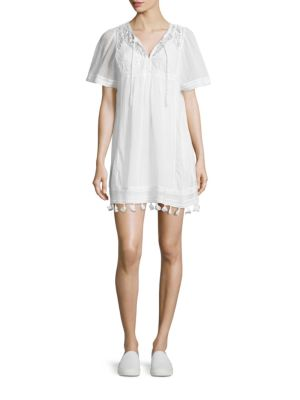 Ralston Cotton Embroidered Dress