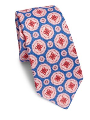 Large Medallion Linen Tie