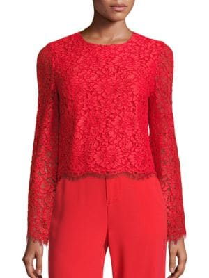 Pasha Lace Bell Sleeve Top