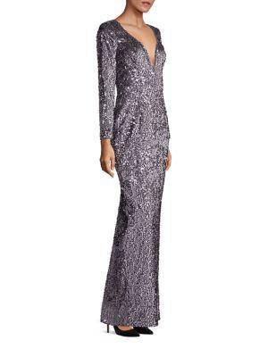 Suzana Sequin Column Gown