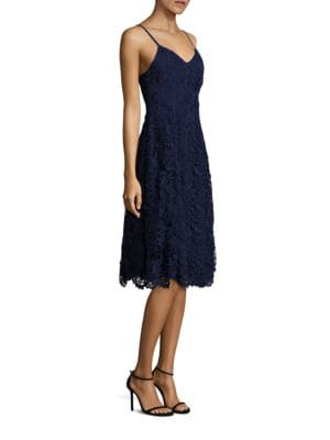 Naomi Lace Fit-&-Flare Dress