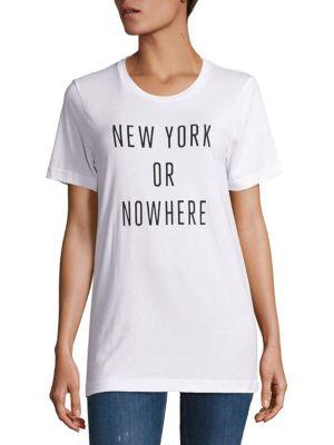 KNOWLITA New York Or Nowhere Cotton Graphic Tee