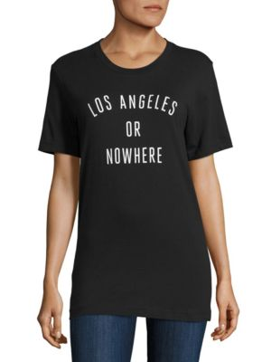 Los Angeles Or Nowhere Cotton Graphic Tee