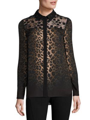 Anderson Leopard-Print Silk Blouse by Elie Tahari