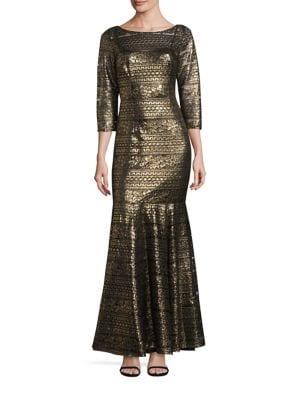 Metallic Trumpet Gown