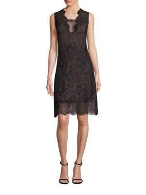 Anne Metallic Lace Dress