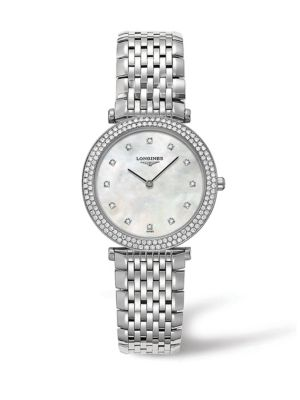 La Grande Classique Diamond, Mother-Of-Pearl & Stainless Steel Watch