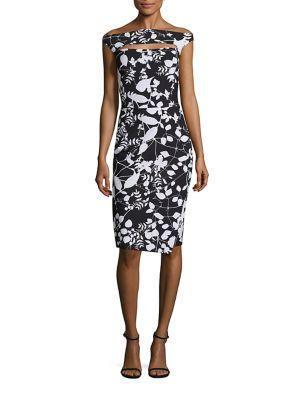Melania Print Cut-Out Dress