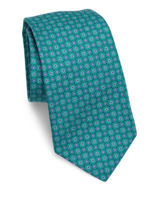 Circle Flower Silk Tie