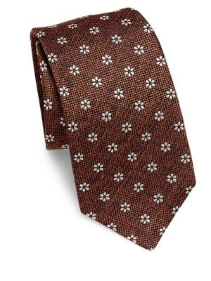 Floral Jacquard Silk Tie