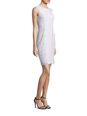 Dora Sleeveless Lace Sheath Dress