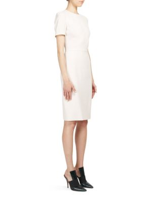 Anna Short-Sleeve Cady Dress