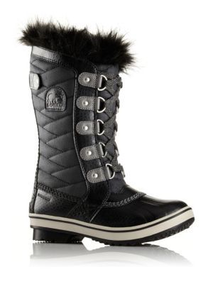 Girl's Tofino II Faux Fur-Cuff Quilted Snow Boots