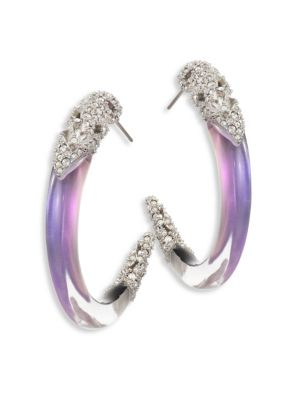 Lucite & Crystal Hoop Earrings/1