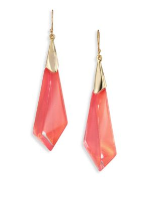Faceted Lucite Drop Earrings