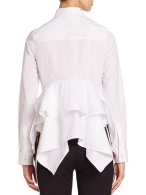 Cotton Peplum Shirt