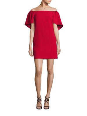 Zeal Off-The-Shoulder Cape Dress