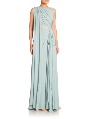 Draped Matcha Gown