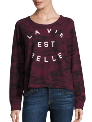 La Vie Est Belle Crop Pullover