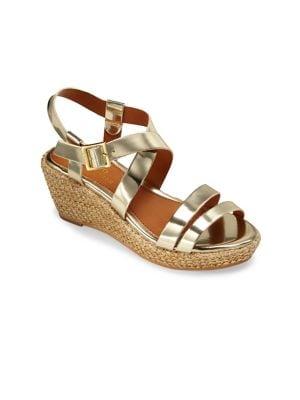 Toddler's Sabrina Metallic Wedge Sandals