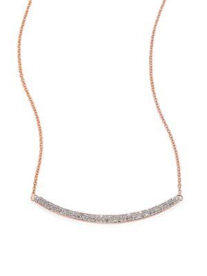 Skinny Curve Diamond Necklace
