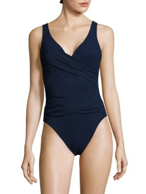 KARLA COLLETTO SWIM V-Neck Underwire Swimsuit