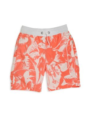 Toddler's & Little Boy's Hibiscus Printed Shorts