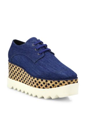 Elyse Denim Platform Oxfords