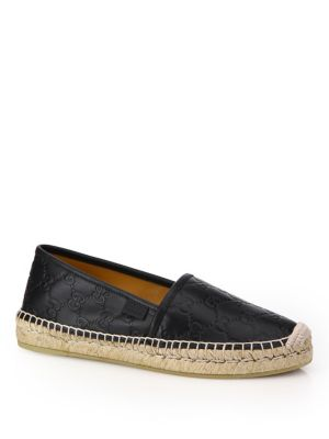 Gucci GG Leather Platform Espadrilles