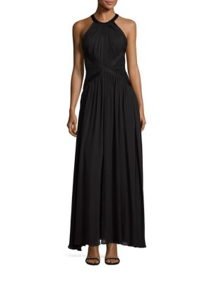 Marvella Silk Halter Maxi Dress