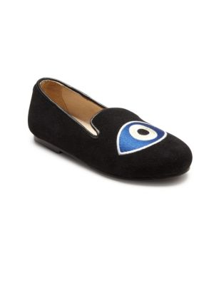Baby's, Toddler's & Kid's Marlow Suede Evil Eye Loafers