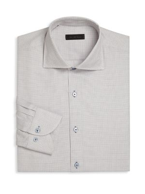 COLLECTION Long Sleeve Basket Design Regular-Fit Dress Shirt