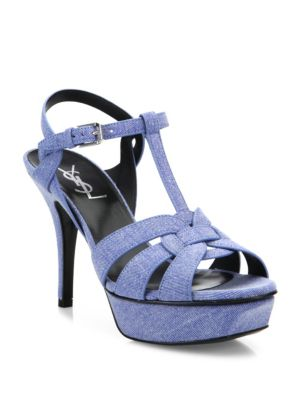 Tribute Denim Platform Sandals
