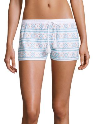 Multi-Tone Embroidered Shorts