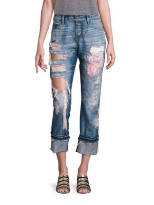 Herma Distressed Straight-Leg Jeans