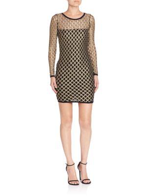 Pyrite Cutout Sheath Dress