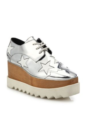 Elyse Metallic Star Platform Oxfords