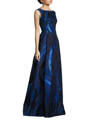 Sleeveless Printed Gown