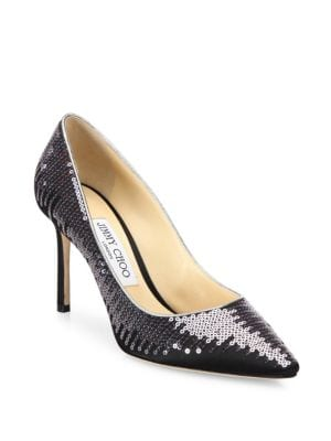 Romy Sequined Satin Pumps