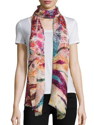Gypsy-Print Cashmere & Silk Scarf