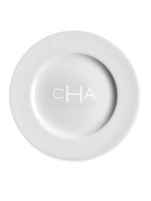 Personalized Catch White Salad Plate