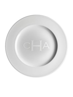 Personalized Pearls Charger Plate