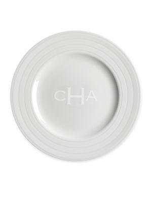 Personalized Cambridge Stripe Salad Plate