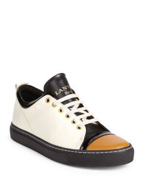 Leather Low-Top Cap-Toe Sneakers